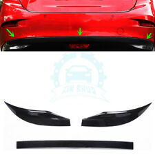 For Mazda 3 Axela 17 Sedan Carbon Fiber Rear Lower Bumper Protector Cover uy