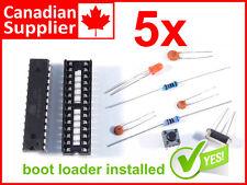 5 x Arduino Atmega328P, Boot Loader + Blink, Bread Board Parts, DIP socket #0095