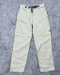 North Face Mens Hiking Cargo Nylon Convertible Zip Off Shorts Pants Size Medium