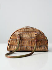 John Galliano handbag, metallic bronze snake satchel