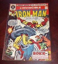 Editions Heritage Invincible Iron Man # 18 1972 French Edition Black White