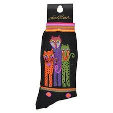Laurel Burch by KBell POLKA DOT LEOPARD Ladies SOCKS LB1055 BLK FREE US SHIPPING