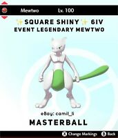 POKEMON SWORD AND SHIELD ✨SHINY✨ 6IV EVENT LEGENDARY MEWTWO (FAST DELIVERY)