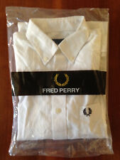Fred Perry Button-Down Kurzarmhemd Classic Oxford Shirt Weiß S