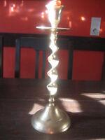 eleganter 1arm Kerzenleuchter Kerzenhalter Kerzenständer Messing Barley Twist