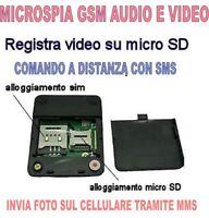 MICROSPIA GSM SPIA AUDIO VIDEO INTERCETTAZIONE AMBIENTALE CIMICE SPY TELEFONO AA