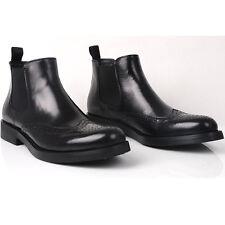Fulinken Brogue Wingtip Men Formal Dress shoes Business chelsea Boots