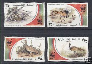PALESTINIAN AUTHORITY 2001 WWF SET OF 4 MNH