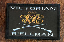 Victorian Rifleman Morale Patch Martini Henry Tactical Military USA Hook Army