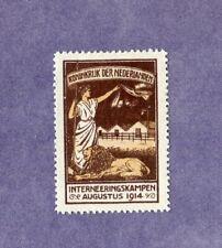 Nederland 1916 IN 2 Interneringszegel ongebruikt Cat. w. €  125,+