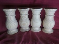 Genuine hand turned hard pine baluster coffee table legs