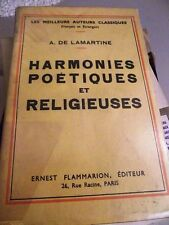HARMONIES POETIQUES ET RELIGIEUSES LAMARTINE 1927