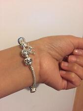 Sale Brand New 17cm Silver Charm Beads PANDDORA Bracelet Lady Xmas Birthday Gift