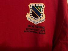 Air Force 3rd Wing Anchorage, Alaska Long Sleeve Shirt Size XL