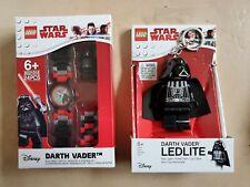 Lego Star Wars, Darth Vader Minifigure Link Children's Watch And Keyring Set