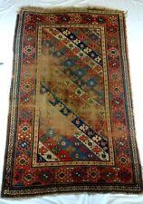 Vintage Distressed Wool Flat Weave Turkish Style Rug Well Worn 70x43 Rectangular