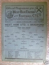 1947 programma LEAGUE West Ham United V BRADFORD Park Avenue 1st FEBBRAIO, RARA