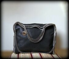 Falabella Stella McCartney ORIGINALE 3 catene nero e profili argento INTROVABILE