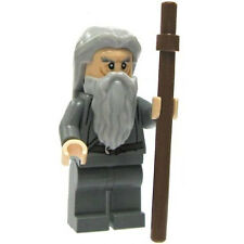 LEGO Minifigure - Lord of the Rings - GANDALF the Gray w/Staff & Hair (No Cape)
