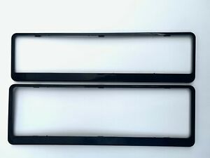 NSW Number Plate Frames/Surround SLIMLINE Blank BLACK front & rear 1 PAIR