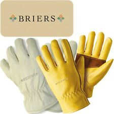 Briers Ultimate Lined Leather Gardening Gloves Thermal Professional Thorn Proof