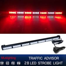 """31"""" 28 LED Emergency Warning Traffic Advisor Strobe Light Bar Red White 12V"""