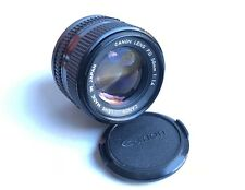 Objectif CANON FD 50mm 1:1.4 Lens Made In Japan w/ front and rear caps