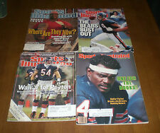 4 SPORTS ILLUSTRATED CHICAGO BEARS COVERS - PAYTON - URLACHER - MCMAHON - PERRY