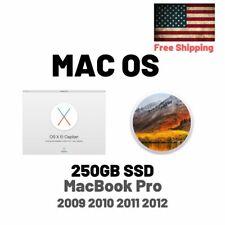 250GB SSD For Apple Macbook Pro 2009 2010 2011 2012 El Capitan High Sierra