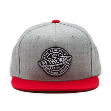 VANS - BADGE Mens Snapback Hat (NEW) Heather Grey / Chili Pepper  FREE SHIPPING