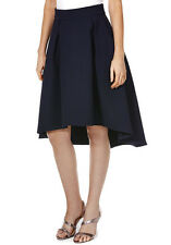 Cutie Textured A-Line Skirt - Navy Ladies UK Size 12 - Box65 38 J