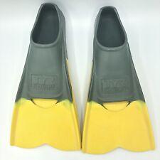 Tyr Crossblade Swim Fins. Grey & Yellow. Size 7-9