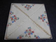 Antique Floral Motif PAPER NAPKINS UNUSED Old Vtg Tableware Scalloped Edges