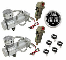 Dual 480c Compressors Digital 5 Zone Gauge Display Water Traps For Air Ride