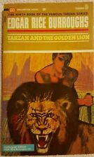 EDGAR RICE BURROUGHS - TARZAN AND THE GOLDEN LION G-VG 1963 Science Fiction