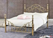 LAVISH FLORENCE ANTIQUE BRASS EFFECT BED FRAME IN DOUBLE & KING SIZE**FREE P&P**
