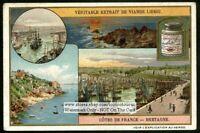 Brittany Bretagne France Coast Cote c1910 Trade Ad Card