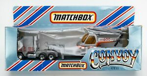1983 Matchbox Convoy CY11 Kenworth Helicopter Transporter SILVER / ACE HIRE