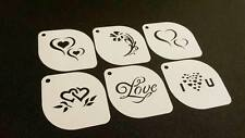 Set of 6 pcs Valentine's Heart Love Flower Stencils Love Decoration Card Face