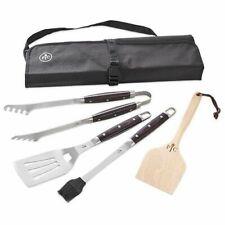 Pampered Chef Grilling tools - Nip - 4 tools and bag Matches Knife Set pakkawood
