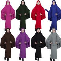 Muslim Kids Girls Jilbab Abaya Burka Hijab Islamic Maxi Dress Prayer Service New