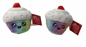 Russ Snackeez Claire Cupcake 6in Plush Toy Lot of 2-New