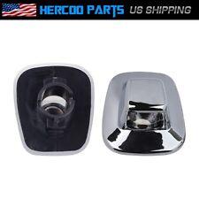 Pair Chrome Bumper LH/RH License Plate Light Lens for GMC Chevy C/K Pickup Truck