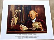 Medical Art-Hunter-Founder of Scientific Surgery Vintage Offset Lithograph 16x13
