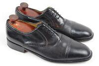 MEZLAN Nicola Deer and Calf Leather Cap Toe Dress Shoes Oxford Black Men's 10.5M