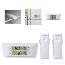 Wireless Temperature Digital Thermometer Refrigerator Freezer Monitor Alarm