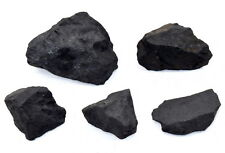 145g Natural Black Shungite Rough Water Cleaning Mineral Raw Stone Russia (5PCS)