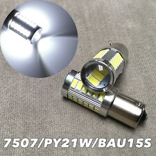 LED REAR TURN SIGNAL Light SMD Bulb 6000K White BAU15S 7507 PY21W BM