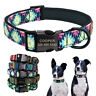 Personalised Dog Collar Soft Neoprene Padded Custom Pet ID Name Tag Engraved S-L