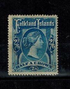 Falkland Islands 1898 QV High Value 2s6d Deep Blue Mint OG F S.G. 41 CV L275